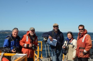 The group from Discover Channel and Ogden Point Dive Centre