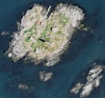 Aerial view of the island, ca 2004