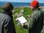 Darcy explaining the process to the resident MPA guardian, Mike Slater.