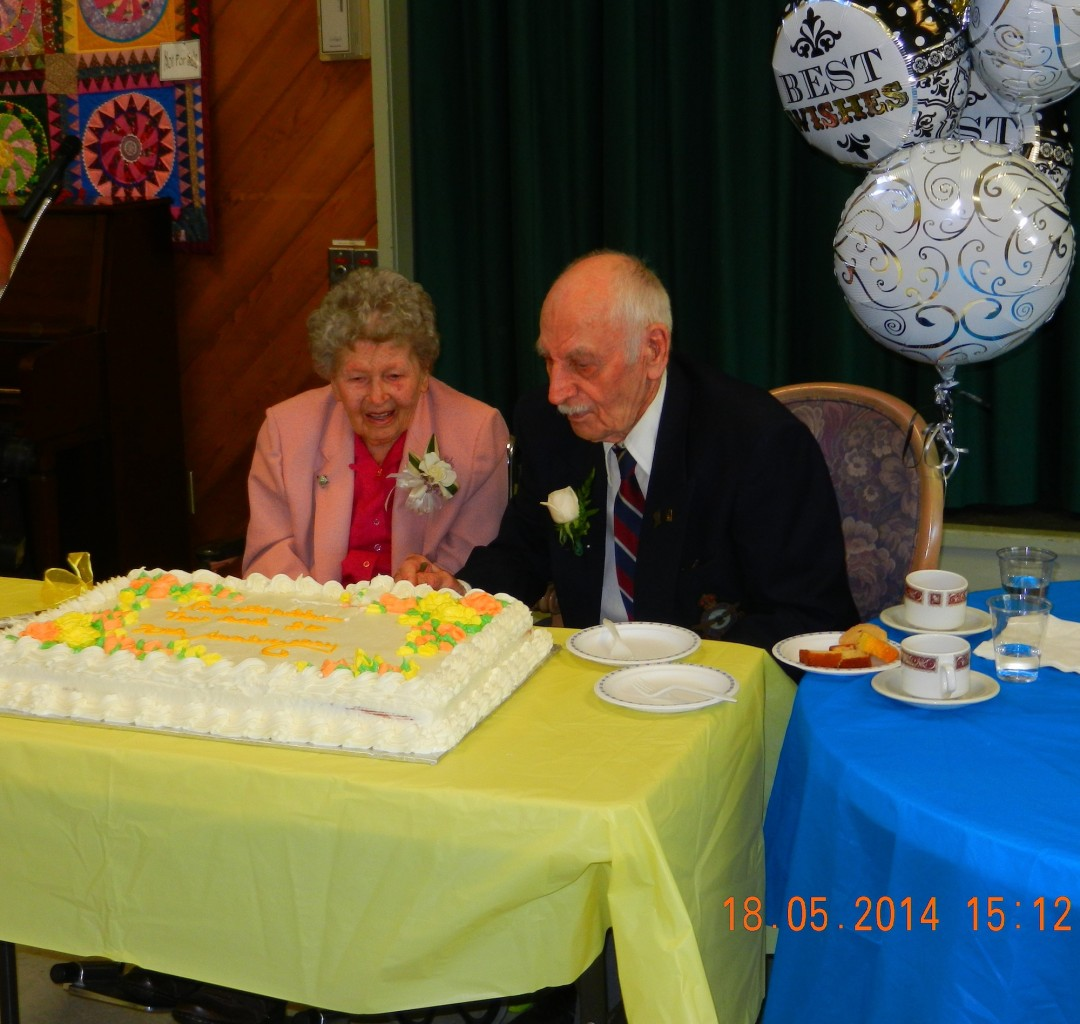 Trev and Flo Anderson on their 70th Wedding Anniversary