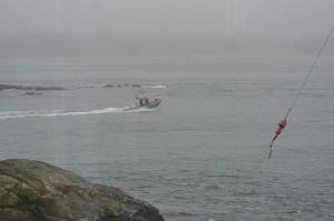 Fishing boat speeding?
