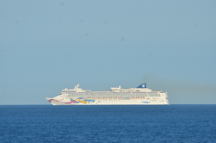 The cruise ships start to parade in